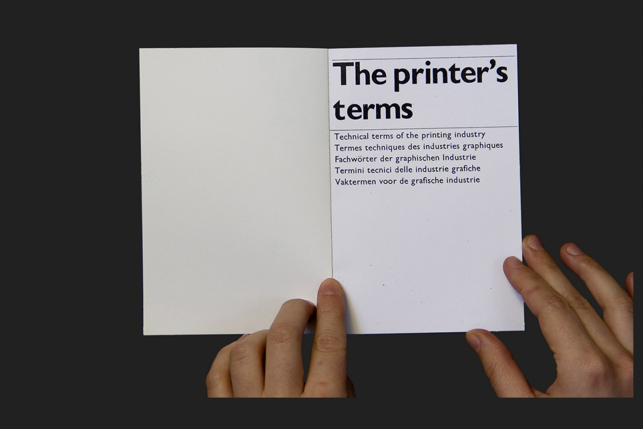 Loris Pernoux The Printer's Terms